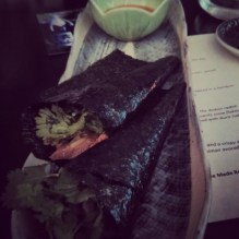 Duck nori wraps